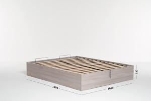 Base Letto Con Contenitore : Letto contenitore matrimoniale con struttura legno e rete a doghe