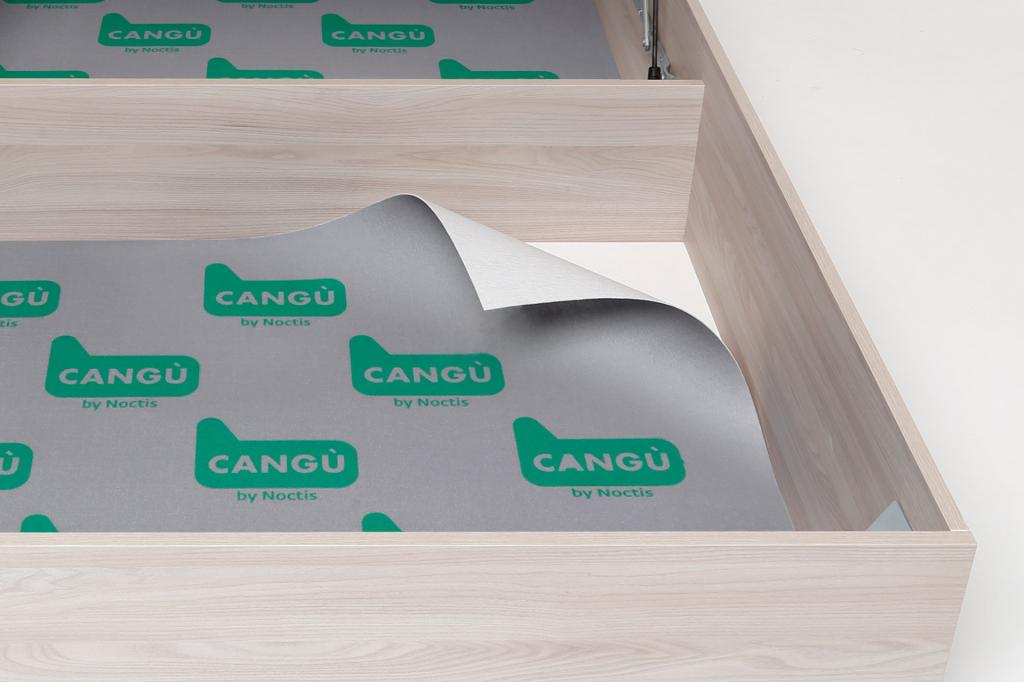 Bianco Hi Box Letto Contenitore 90 x 190 cm Cang/ù