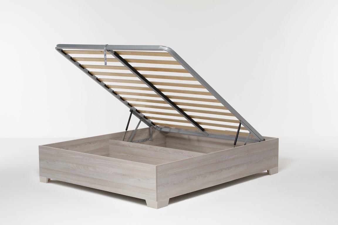 Letto contenitore matrimoniale con struttura legno e rete - Rete a doghe per letto contenitore ...